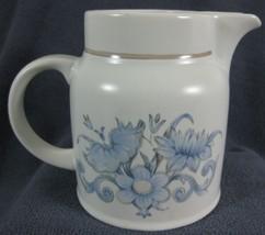 Royal Doulton Inspiration LS1016 Creamer Pitcher Lambethware England Blue Floral image 2