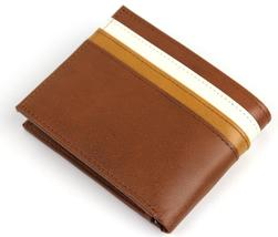 NEW TOMMY HILFIGER MEN'S LEATHER DOUBLE BILLFOLD ID WALLET HONEY TAN 31TL130014 image 2