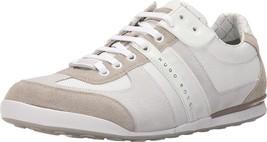Hugo Boss Men's Premium Athletic Sport Suede Sneaker Shoes Akeen Natural - $132.95