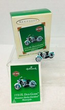 2002 Mini Harley-Davidson #4 Mini Hallmark Christmas Tree Ornament 1958 ... - $22.28
