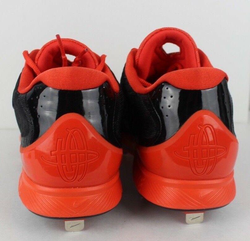 uk availability b5151 4dc7a Nike Uomo Huarache pro Basso Baseball Tacchetti Nero Arancione Metallo  Taglia