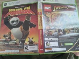 MicroSoft XBox 360 LEGO Indiana Jones: The Original Adventures & Kung Fu Panda C image 1
