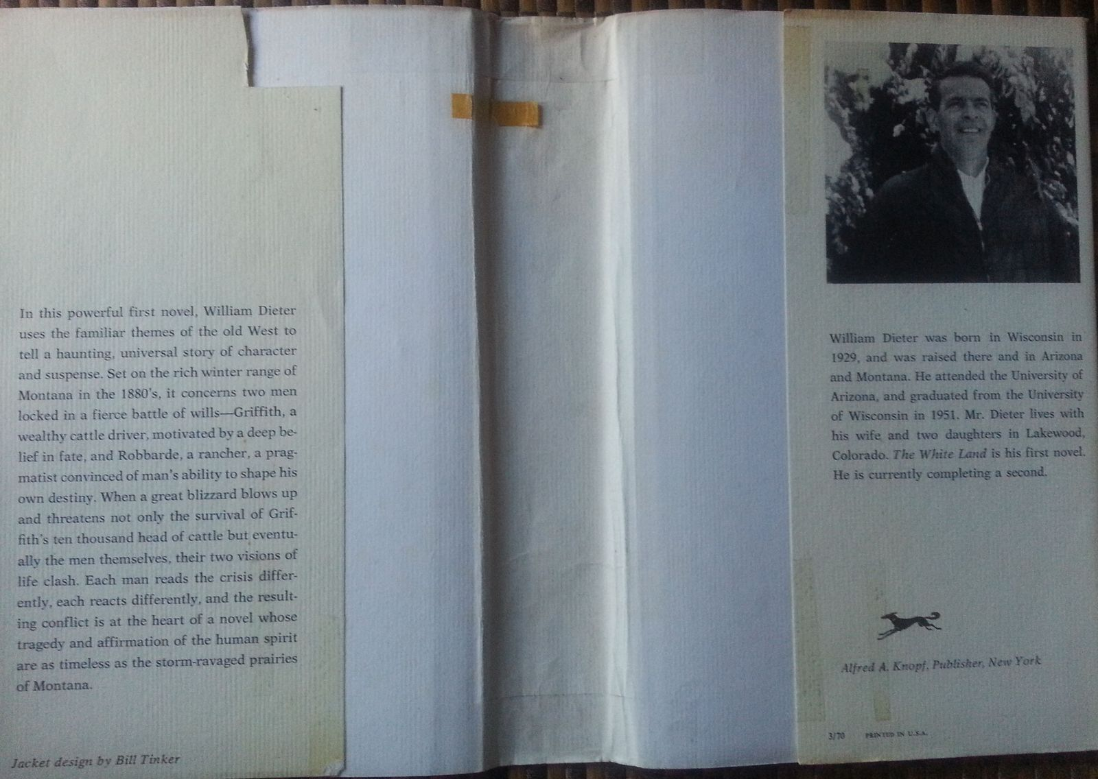 The White Land by William Dieter 1970 HBDJ Montana Western