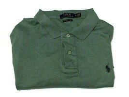 Ralph Lauren Polo Pima Soft Touch Men's XL Casual Shirt Green Short Sleeved - $15.83
