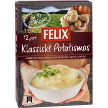 Felix Klassiskt Potatismos Mashed Potatoes 12 Portions 444 gram Made in ... - $16.82