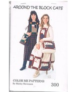 Around the Clock Cats Jumper Skirt Sewing Pattern with Tote Purse - $8.00