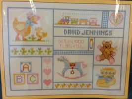 Sunset Ct. Cross Stitch Kit #2990 My Baby Keepsakes Sampler 9x12 Personalized  - $30.28