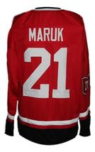 Any Name Number Cleveland Barons Retro Hockey Jersey New Red Maruk Any Size image 2