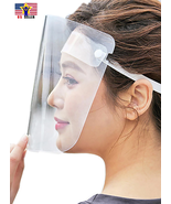 Anti Dust Spitting Saliva Protective Head Bend Face Shield Transparent C... - $7.23