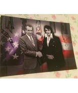 Elvis Presley Postcard Elvis and Nixon with Flag Background Memphis Tenn... - $3.46