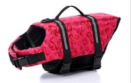 Dog life Jacket Safer Vest Swimming Jacket Flotation Float Jacket red bone - $10.71+
