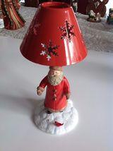 Hallmark  Santa In the Snow Feeding a Red Bird Tealight Candle Holder  - $29.69