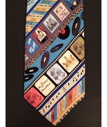 Silk Necktie Music Mens Neck Tie Billy Joel Tom Jones Records Nicole Mil... - $64.29