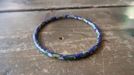 "Antique Vintage Blue Cloisonne Bracelet Inner Diameter 2.25"" - $29.69"