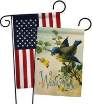 Welcome Birds - Impressions Decorative USA - Applique Garden Flags Pack ... - $30.97