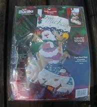 NEW! FABULOUS Bucilla Santa's Coming to Town Felt Holiday Stocking Kit Rudolph C - $54.99