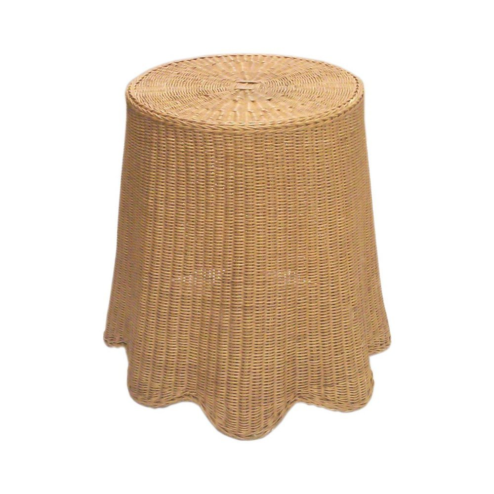 Wicker wave side table main view