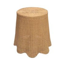 Wavy Wicker Skirted Accent Table - $2,395.00