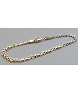 """Unisex 925 Sterling Silver made in Italy chain link Bracelet 8.5"""" 5g - $54.45"""