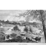 RICHMOND Virginia View from President's Hill - 1883 German Print - $21.60