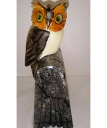 "Vintage Owl on Book Carved Figure 6"" Bookend - $24.74"