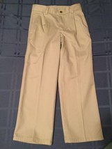 Boys Size 7 Chaps pants khaki uniform pleated pants - $4.29