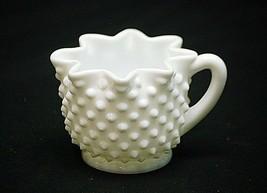 Old Vintage Hobnail Milk White by Fenton Milk Creamer Art Glass Full Sta... - $16.82