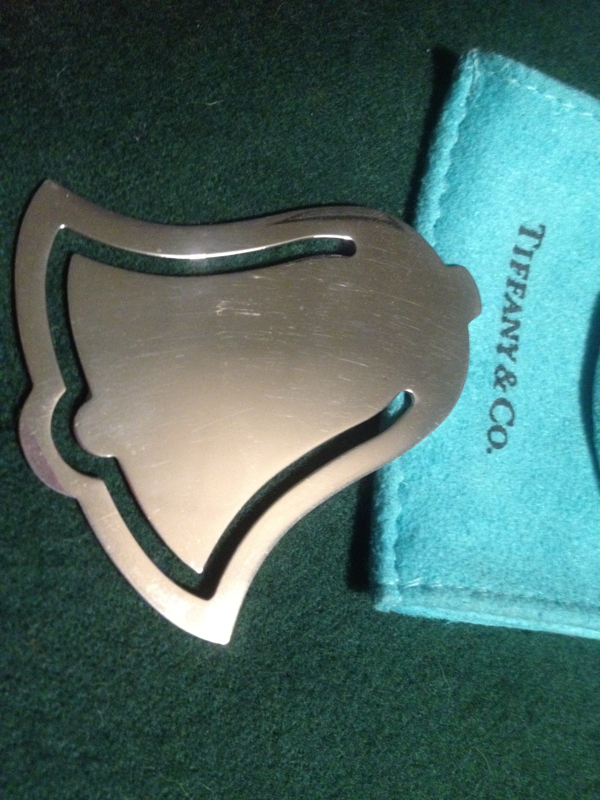 """TIFFANY & CO. """"Bell"""" shaped BOOKMARK in Sterling Silver - RARE - 1999"""