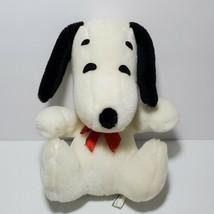 "Vintage Knickerbocker SNOOPY Peanuts Plush 1968 Dog Sitting 9"" Stuffed Animal   - $29.65"