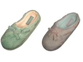 Women's 6 (M) Slippers Gold Toe Clog Non-Skid Sole Soft Microfiber NEW