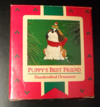 Hallmark Keepsake Christmas Ornament 1986 Puppy's Best Friend Elf Bone B... - $6.99