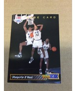 1992-93 Upper Deck SHAQUILLE O'NEAL Rookie #1B Basketball Card High Grade - $19.95