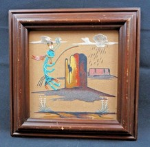 Vintage Original sand painting Navajo Nation Death Valley signed - $78.00