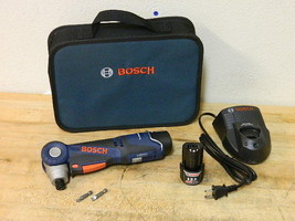 Bosch Right Angle Cordless Drill w/ 2 Batteries and Charger PS10-2A Part... - $3.796,45 MXN