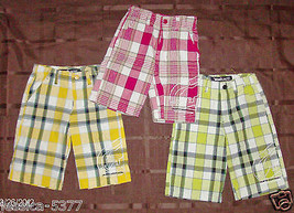ECKO UNLTD BOYS SHORTS Size 2T , 3T or 4T Plaid Red, Yellow or Green NWT - $9.09