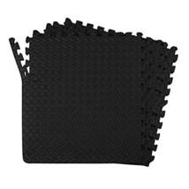 24 SQFT Mat Rubber Flooring Tiles Gym Garage Home Workout Exercise Fitne... - $26.49