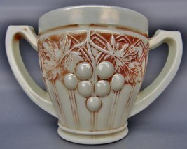 Northwood Pearlized Custard Glass GRAPE & GOTHIC ARCHES Spooner w/ Nutme... - $130.50