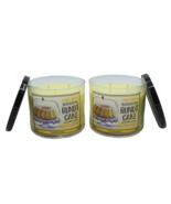 Bath & Body Works Banana Bundt Cake 3-Wick Glass Jar Candle 14.5 oz (Set... - $47.89
