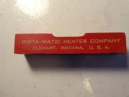 OLD WOOD ADVERTISING LEVEL TOOL,INSTA-MATIC HEATER CO.ELKHART INDIAN,USA... - $32.30