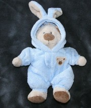 "TY LOVE TO BABY PLUFFIES BOY BLUE TEDDY BEAR BUNNY CLOTHES PJ PAJAMAS 8""... - $28.21"