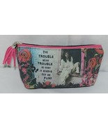 GANZ Brand The Trouble With Trouble Lady In White Print Makeup Bag - $12.00