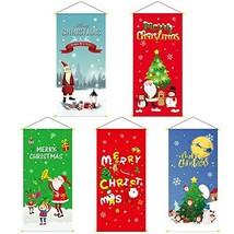 Christmas Ornaments Banner Door Window Hanging Decors TkLandon (Snowing ... - $19.80