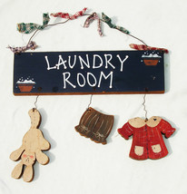 Cute Vintage Wooden Laundry Room Wall Hanging Sign - Home Decor - $21.99