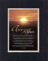 Amazin Grace!. . . 8 x 10 Inches Biblical/Religious Verses set in Double... - $11.14