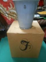 NIB- Beautiful FENTON Pottery FLIP Gray VASE - $64.93