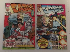 CABLE #1 & 2 Blood & Metal Marvel Comic Book Set 1992 VF+ Condition 1st ... - $5.39