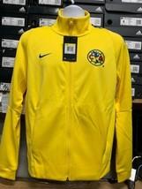 nike club america Track  jacket Yellow Blue 2019 Chamarra De America Size Medium - $103.95