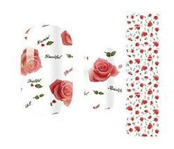 Creative Fashionable Green Nail Stickers Nail Decoration, Rose