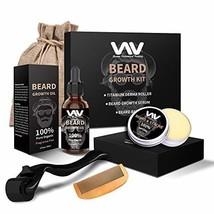 Beard Growth Kit, Derma Roller with Beard Growth Oil Serum for Men, Facial Hair