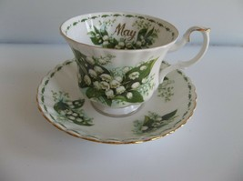 Royal Albert Tea Cup Saucer Flower of Month MAY Lily of the Valley - $19.99